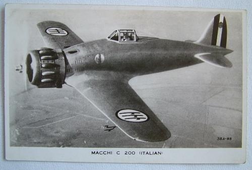 WW2 Postcard  - Macchi C 200