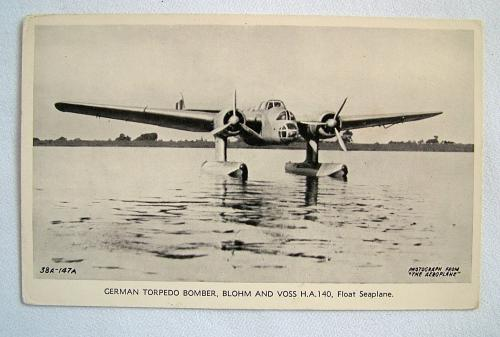 WW2 Postcard  - German Torpedo Bomber