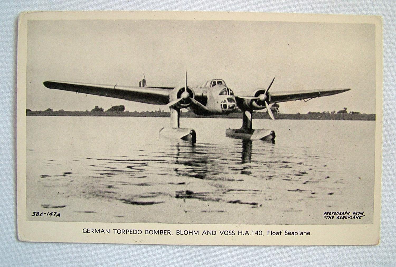 WW2 Postcard  - German Torpedo Bomber