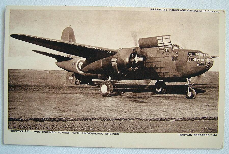 WW2 Postcard  - Boston II Bomber