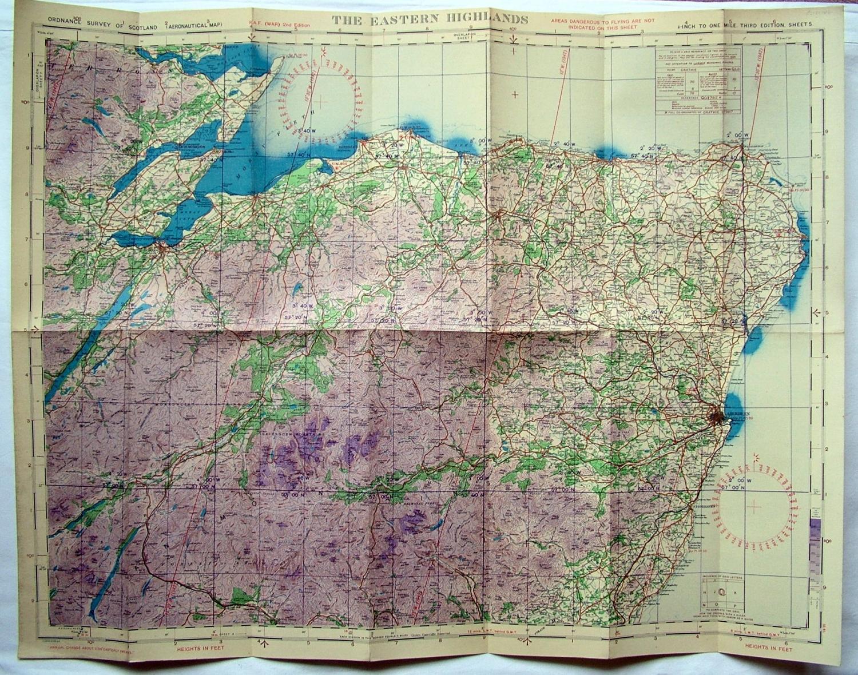 RAF Flight Map - Eastern Highlands