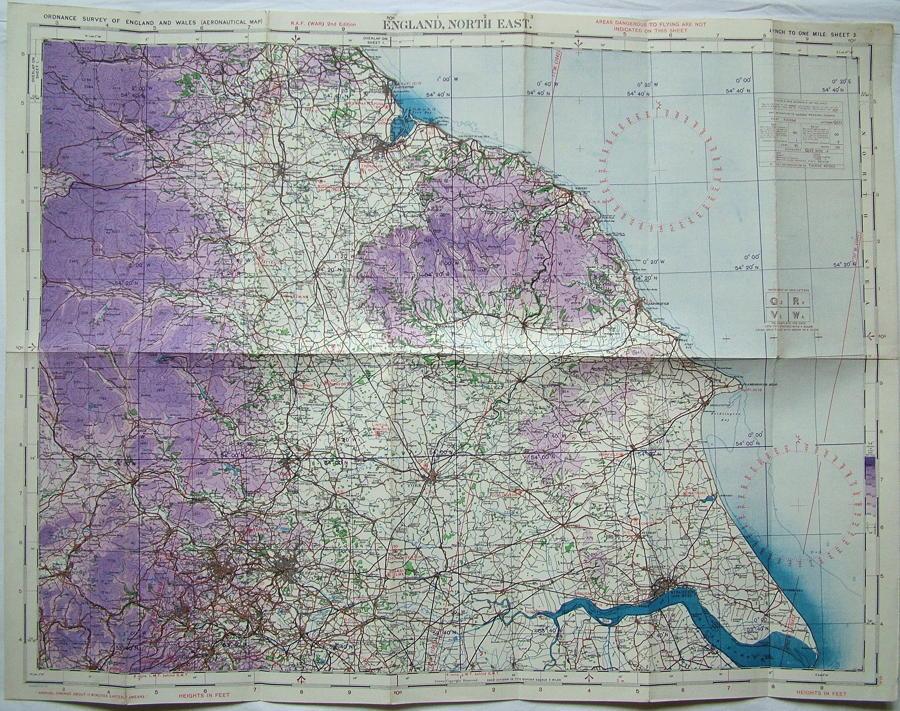 RAF Flight Map - England, North-East