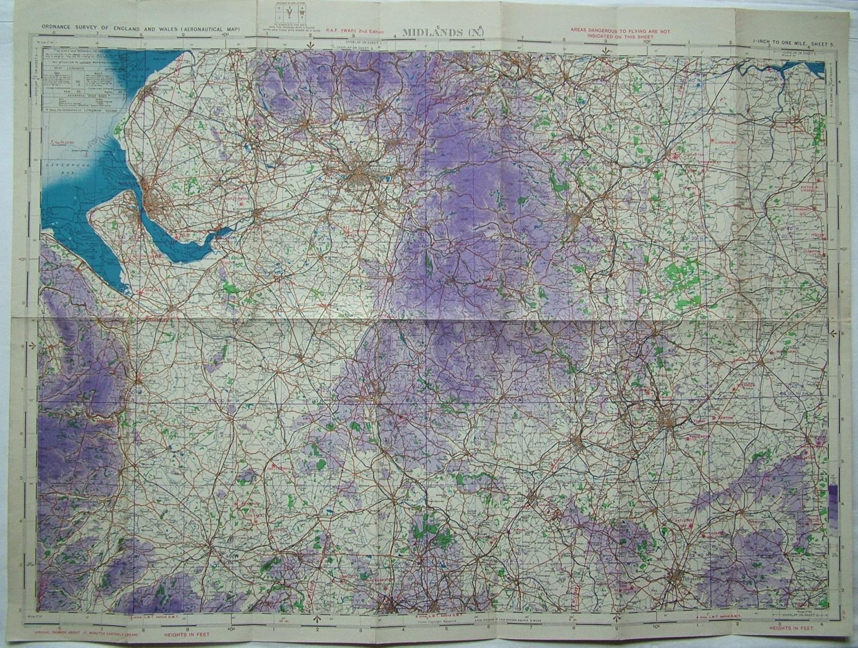 RAF Flight Map - Midlands (N)