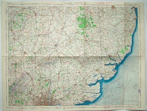 RAF Flight Map - Eastern Counties (S)