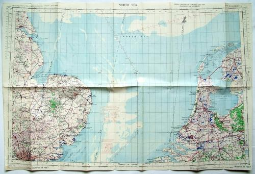 RAF Flight Map - North Sea