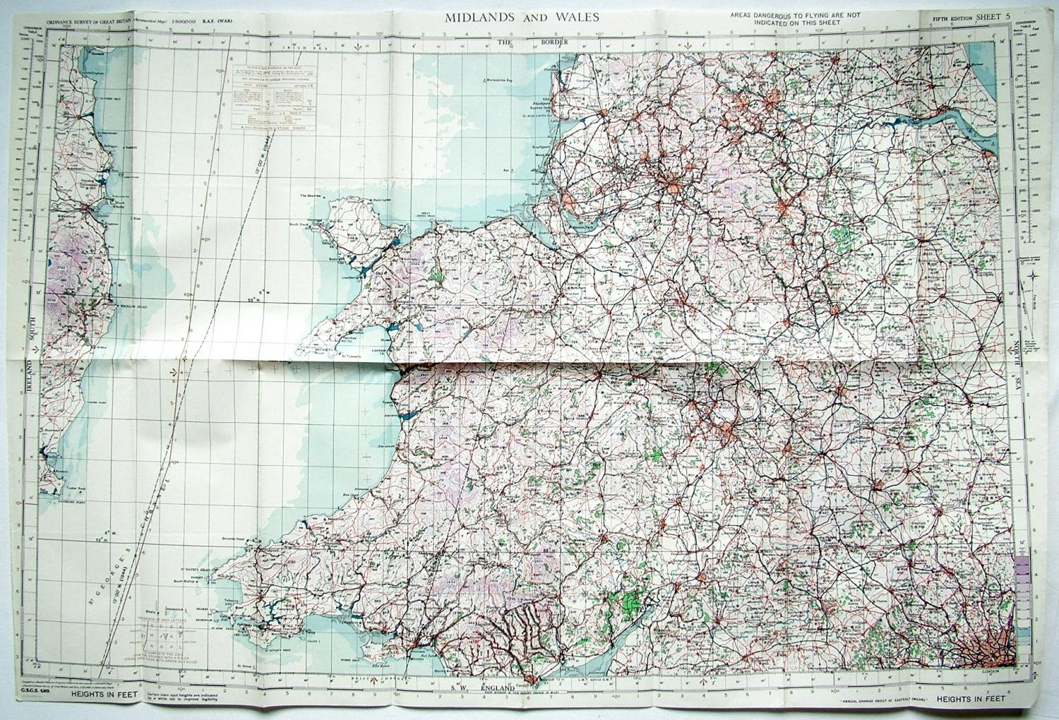 RAF Flight Map - Midlands & Wales