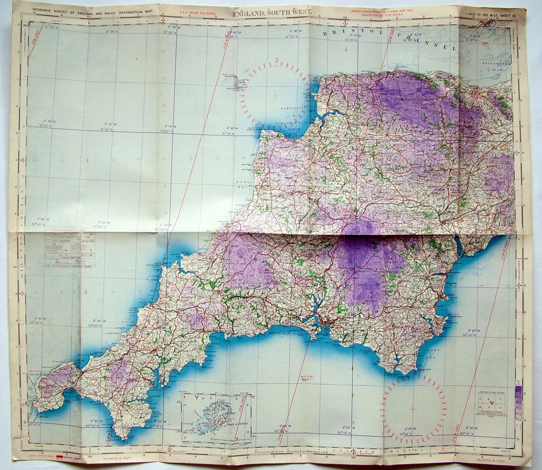 RAF Flight Map - England South-West