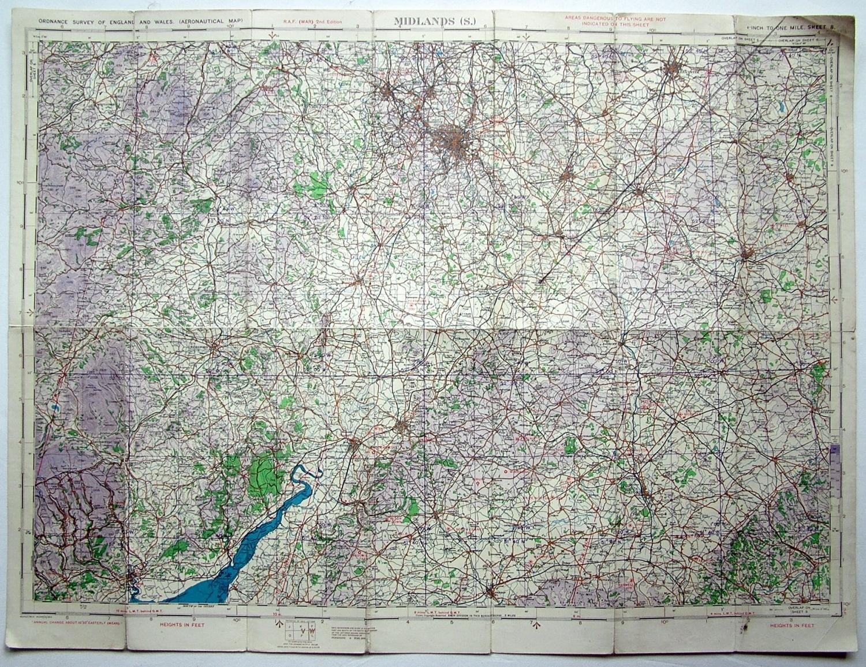 RAF Flight Map - Midlands (S)