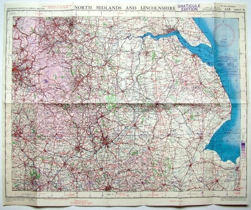 RAF Flight Map - North Midlands & Lincs.
