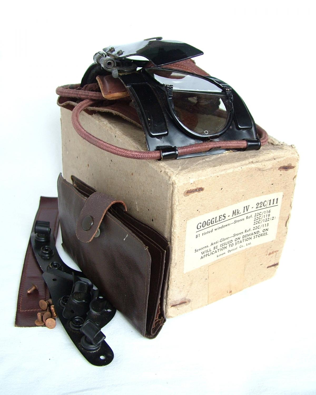 RAF MK.IV Flying Goggles, Complete/Boxed