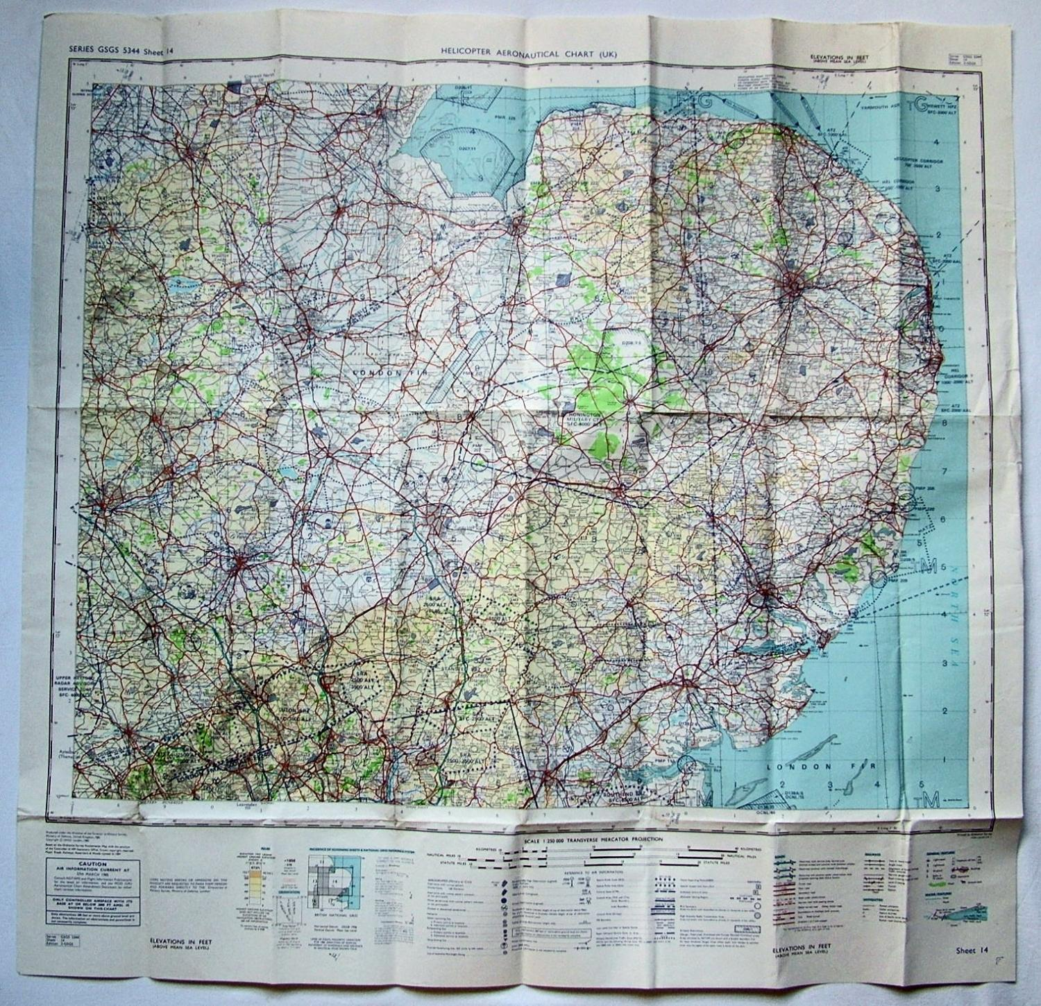 Helicopter Aeronautical Chart (UK)