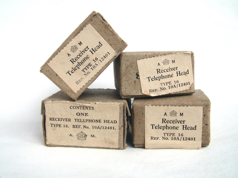 RAF Flying Helmet Receiver Boxes