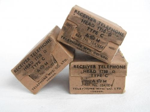 RAF Flying Helmet Receiver Boxes, Type1