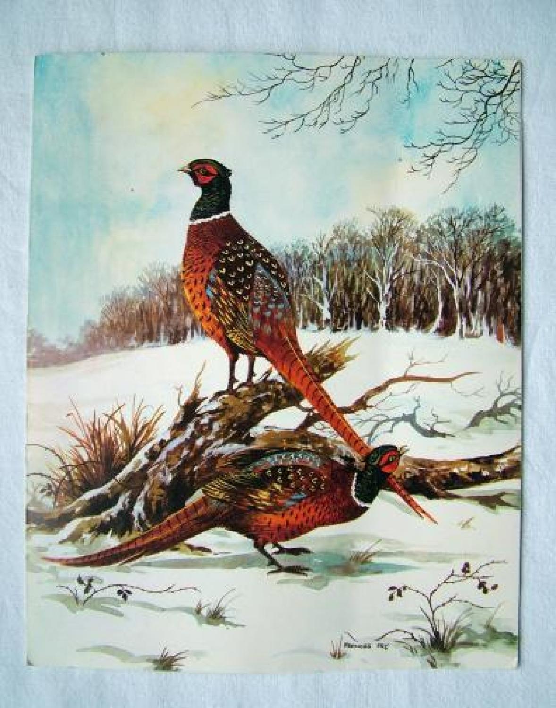 Sir Arthur T Harris Christmas Card