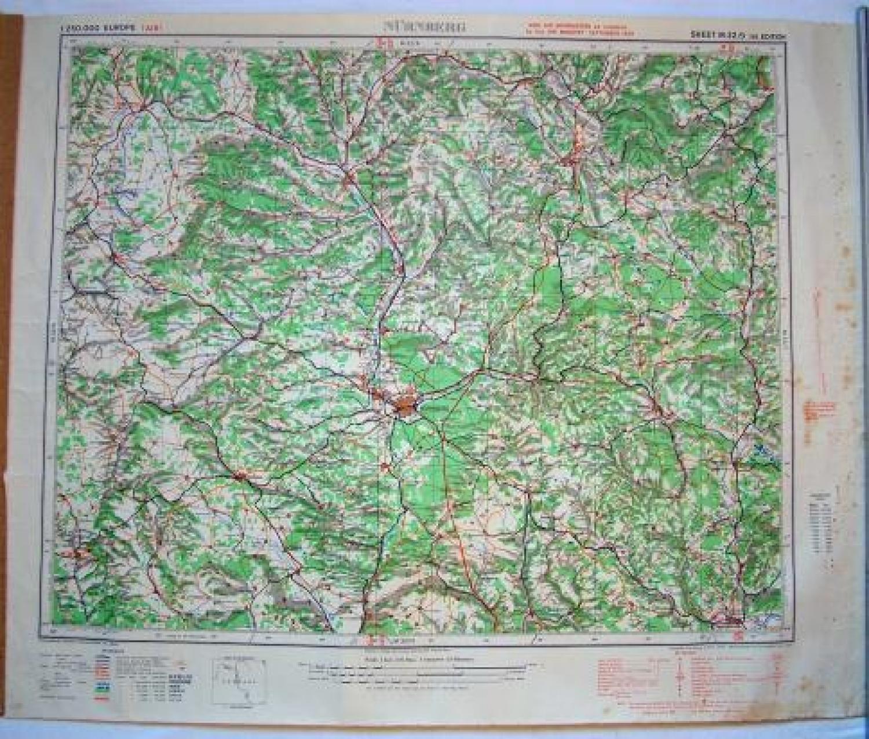 R.A.F. Flight Map - Nurnberg