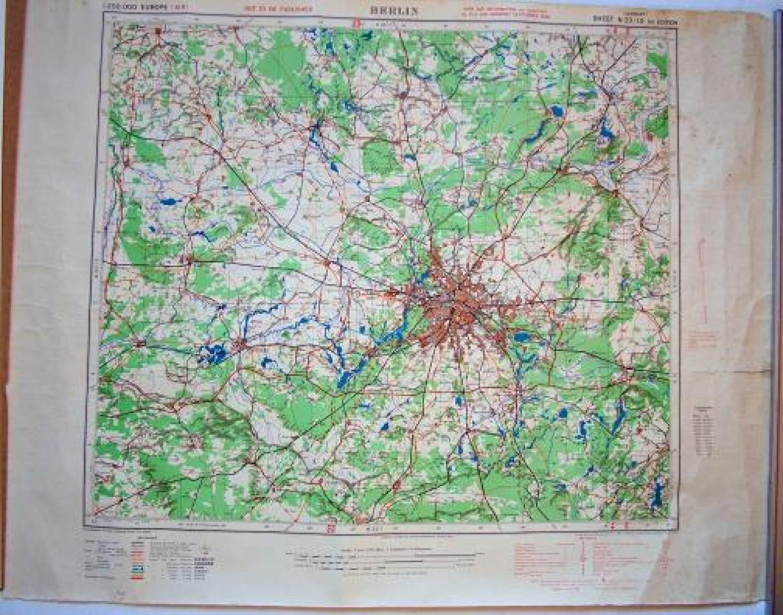 R.A.F. Flight Map - Berlin