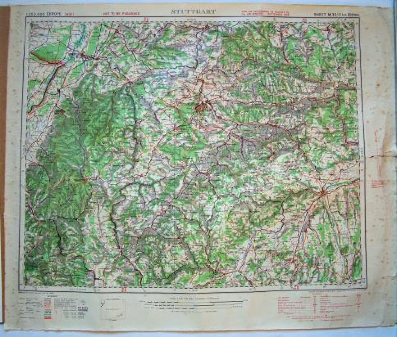 R.A.F. Flight Map - Stuttgart