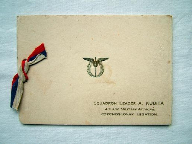 Czech Squadron Leader Pilot's Christmas Card