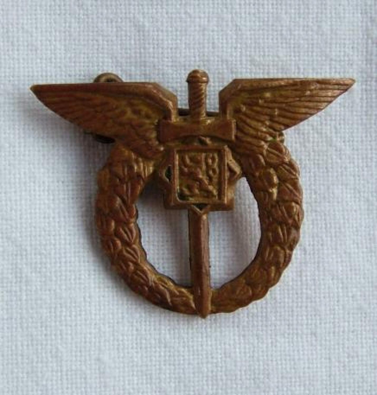 Czech Pilots Badge, Miniature, English Made