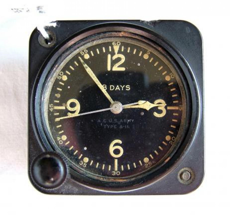 USAAC Type A-11 Aircraft Cockpit Clock