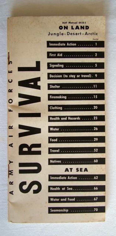 USAAF Survival Manual, C-1 Vest Issue