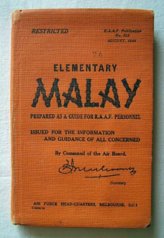 R.A.A.F. Manual - Elelementary Malay
