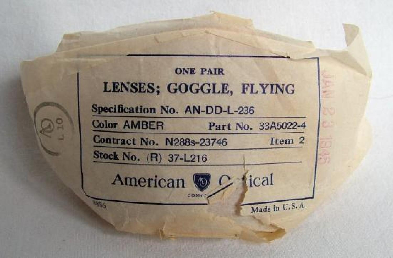 USAAF AN6530 Flying Goggle Lenses - Pair