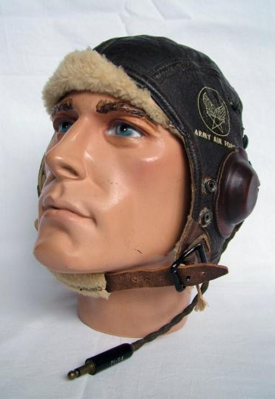 USAAF B-6 Winter Flying Helmet, Wired