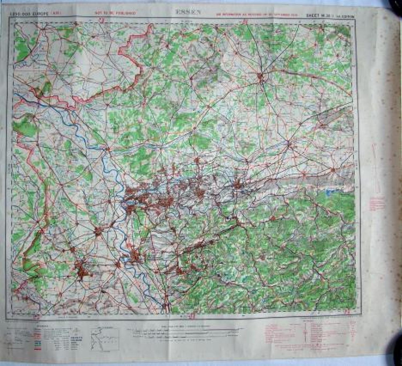 R.A.F Flight Map - Essen, Germany