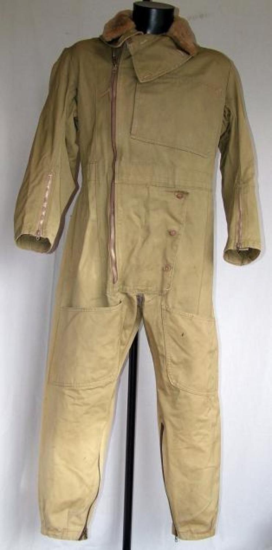 RAF 1940 Patt. Sidcot Flying Suit & Collar