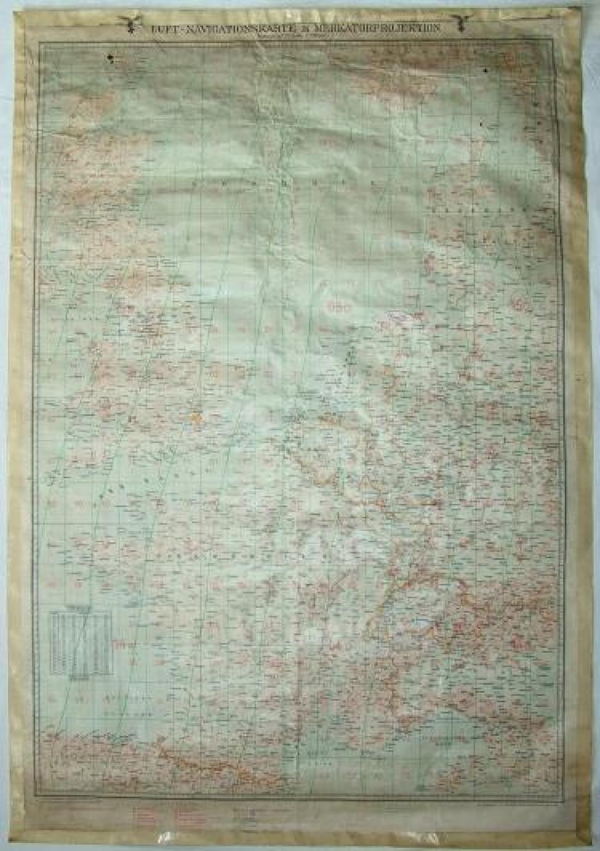 Luftwaffe Nav. Map - Britain/Western Europe