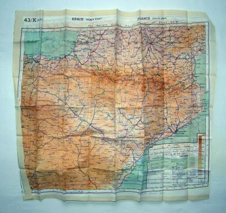 R.A.F. Escape & Evasion Map - European