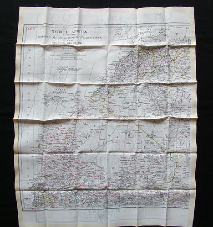 R.A.F. Silk/Rayon Escape/Evasion Map
