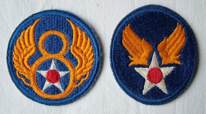 USAAF 8th AAF Shoulder Patch & AAF Patch