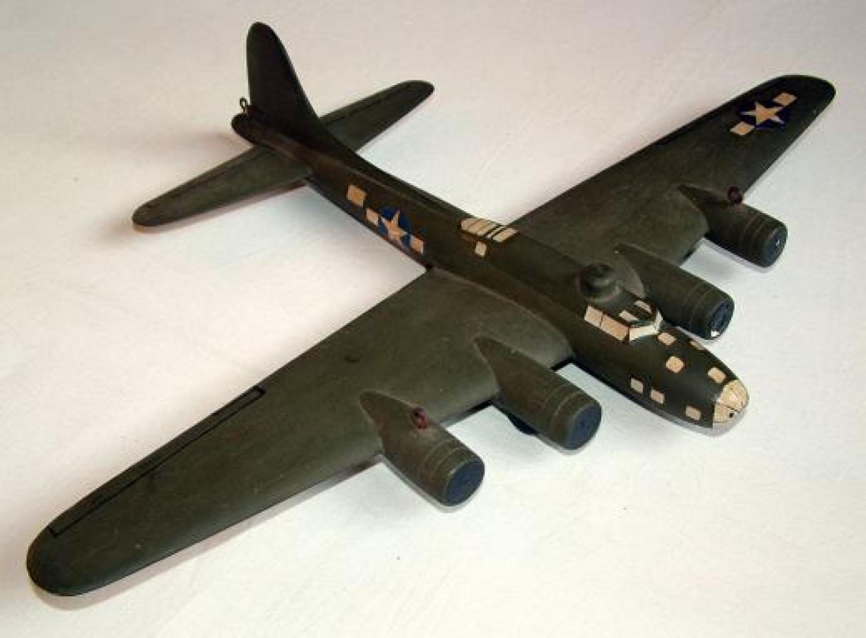 USAAF B-17 Recognition Model, Ex. 8thAF Pilot