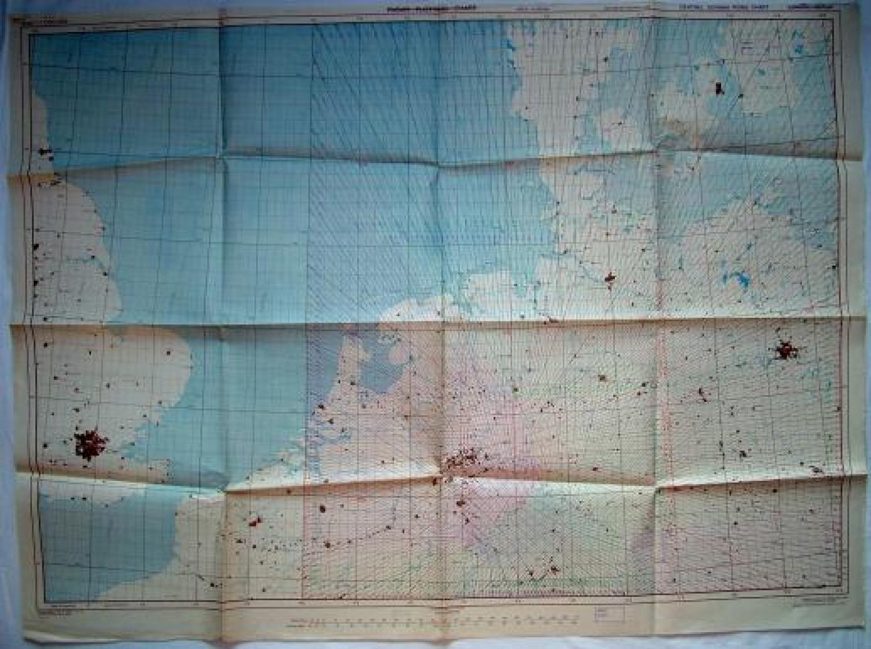 RAF Radar Plotting Chart : London - Berlin
