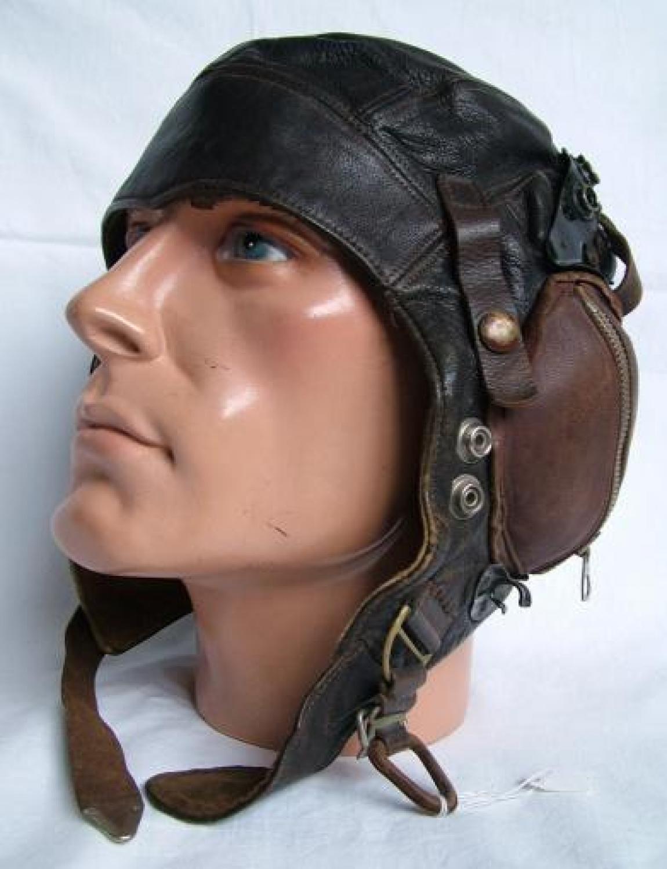 RAF / FAA C-type Flying Helmet - Modified