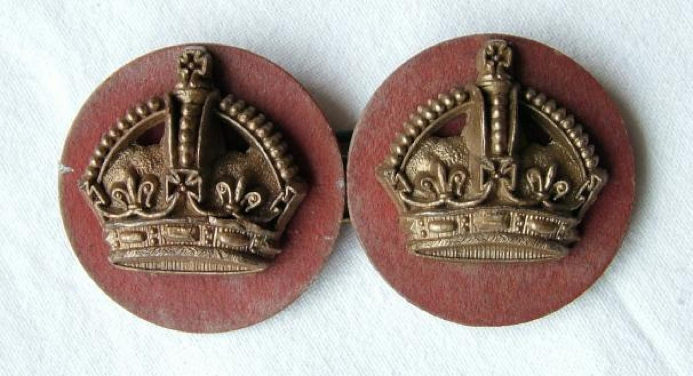 RAF Flight Sergeant Crowns - Plastic, Pair