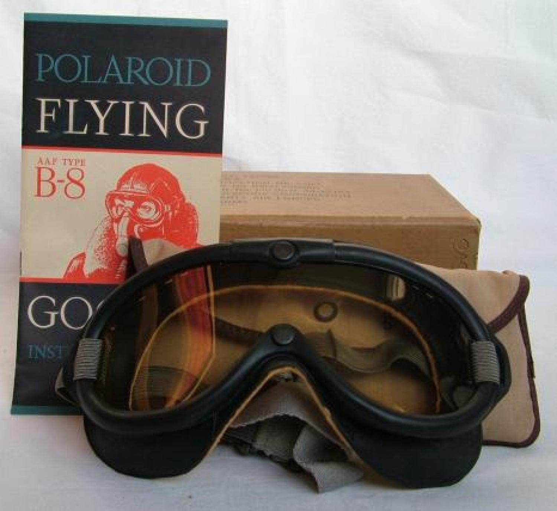 U.S.A.A.F. Type B-8 Goggles, Boxed