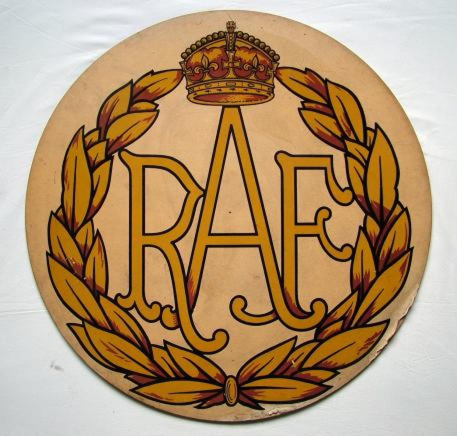 R.A.F. Wooden Sign