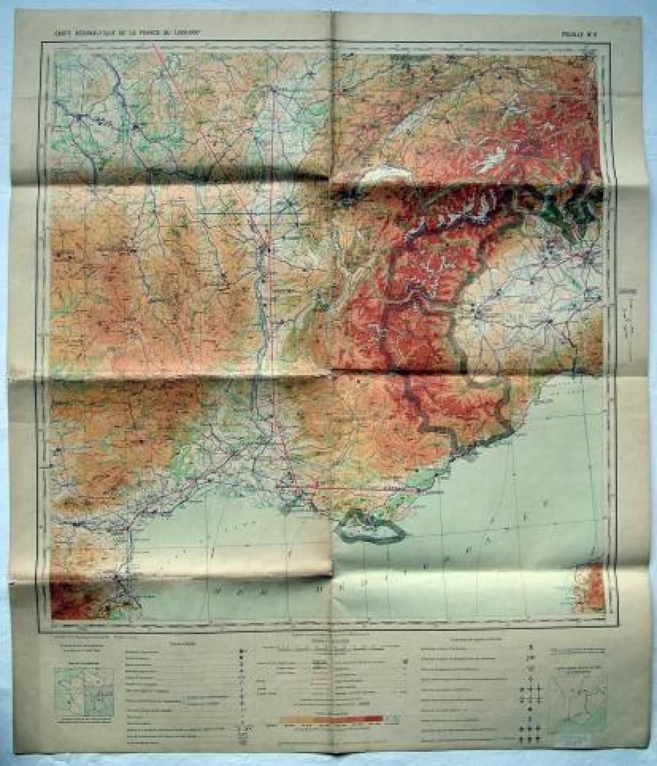 French Air Force Flight Map -  Lyon