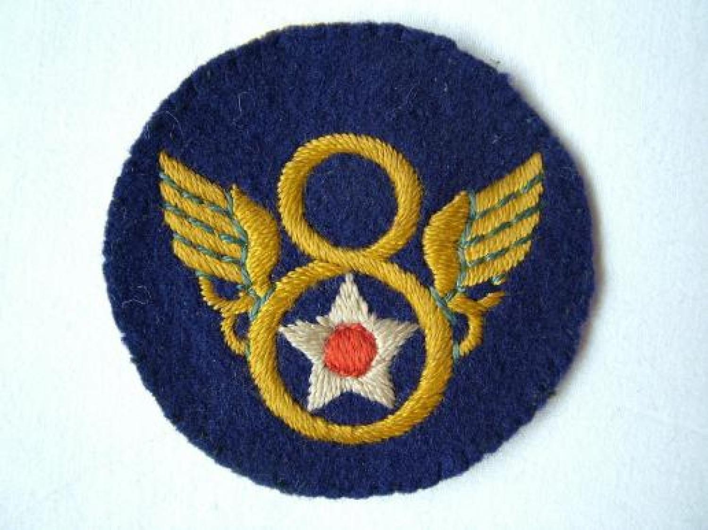 USAAF 8th AF Shoulder Patch, English Made