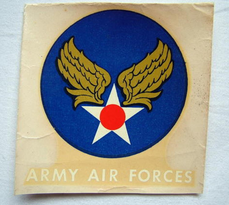 U.S.A.A.F. Jacket Decal Insignia