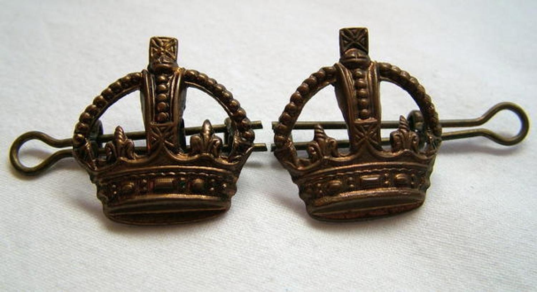 R.A.F. Flight Sergeant Crowns (pair)