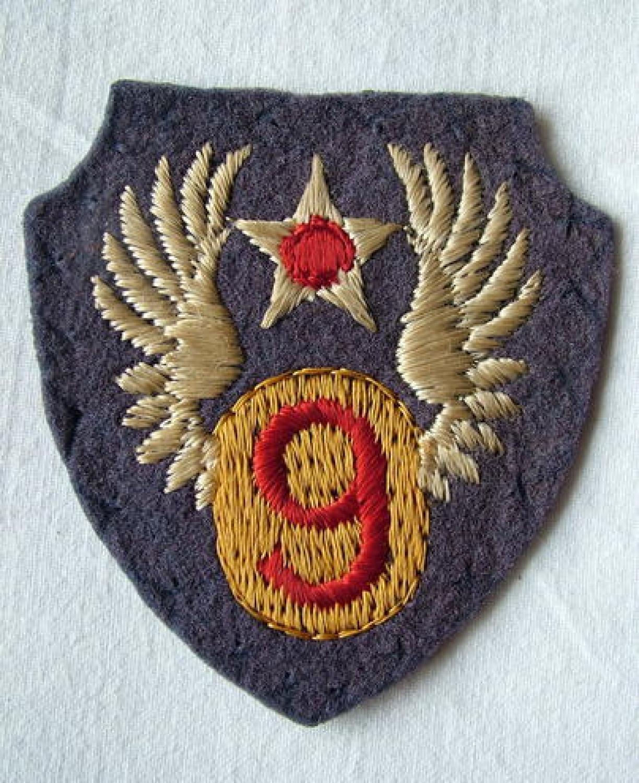 U.S.A.A.F. English 9th AAF Shoulder Patch
