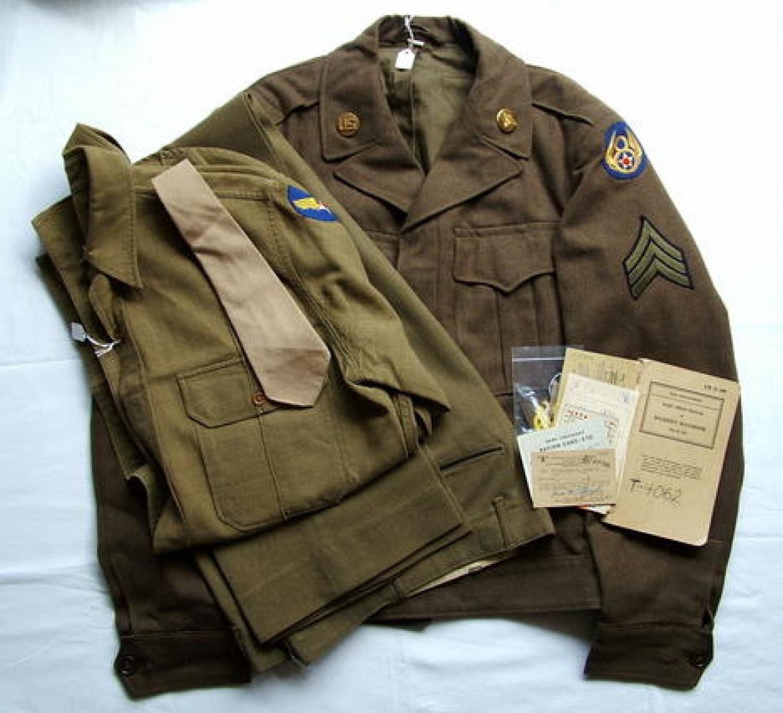 USAAF 8th AAF 486BG Uniform/Paperwork