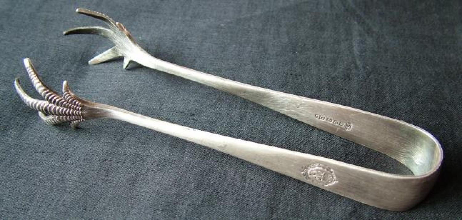 R.A.F. 'Claw Foot' Ice Tongs