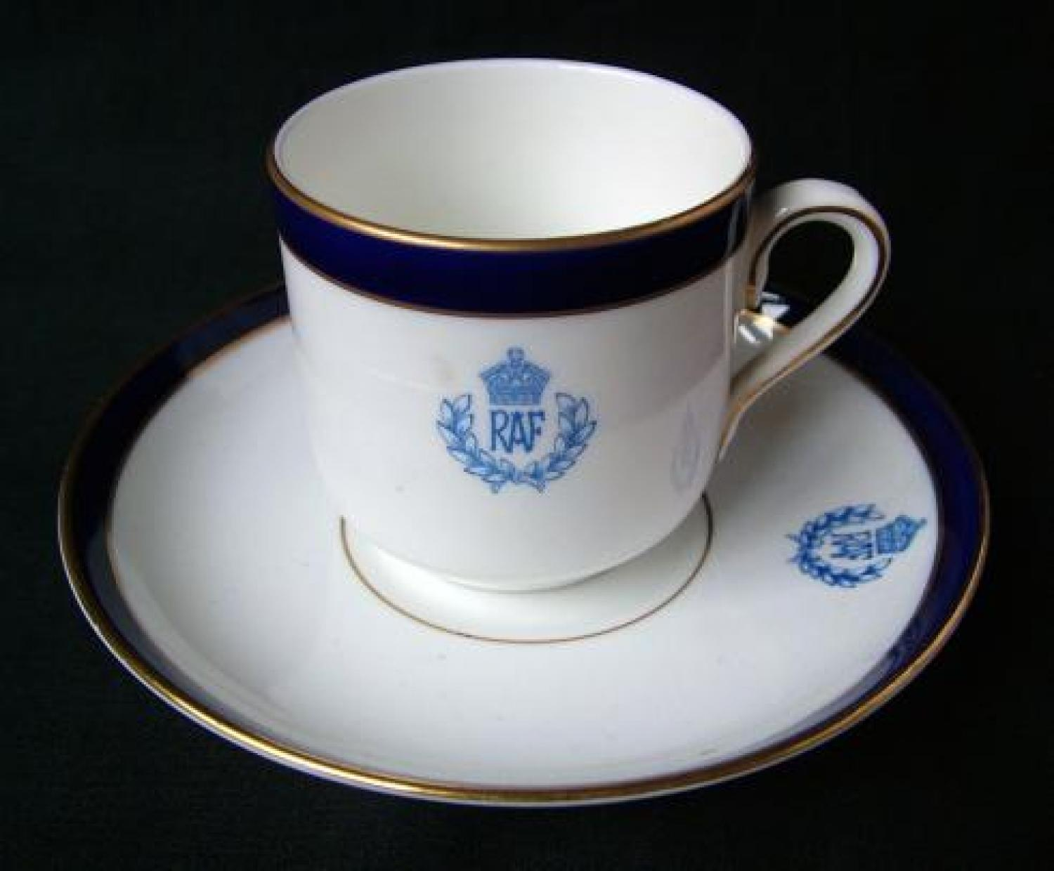 R.A.F. Mess Coffee Cup & Saucer