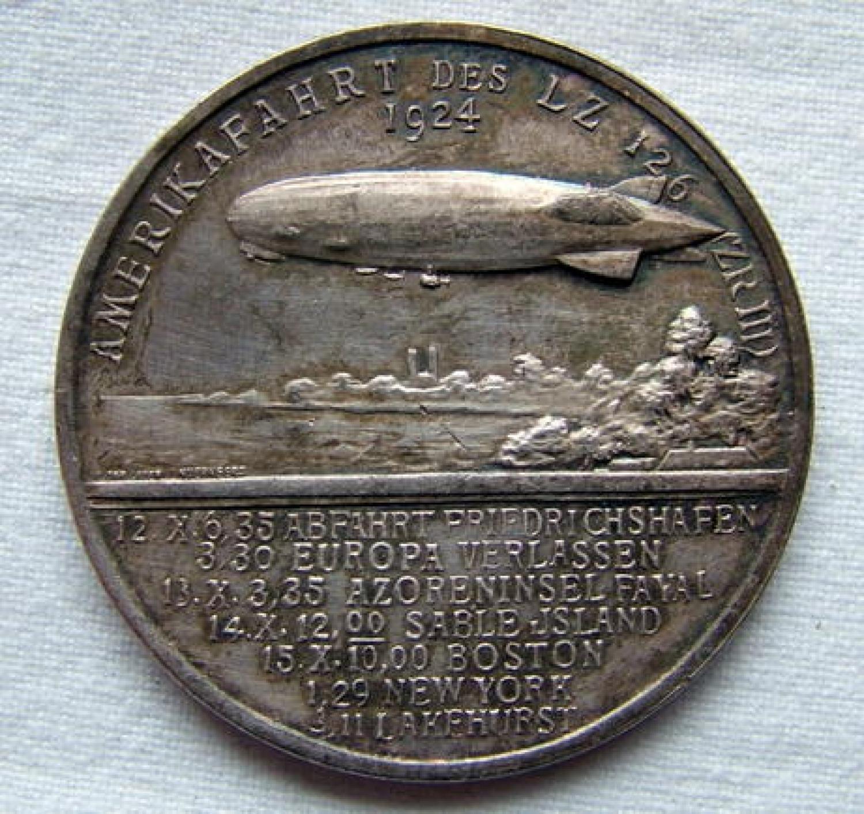 1924 LZ126 Zeppelin Medal