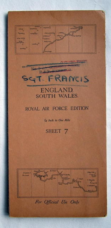 Battle of Britain Pilot's Map - Named